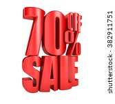 sale 70 percent off in red... | Shutterstock . vector #382911751