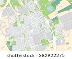 vector city map of delft ... | Shutterstock .eps vector #382922275