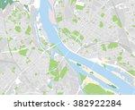 vector city map of riga  latvia | Shutterstock .eps vector #382922284