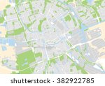 vector city map of groningen ... | Shutterstock .eps vector #382922785