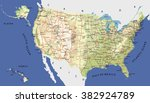 highly detailed map of united... | Shutterstock .eps vector #382924789