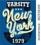 college new york typography  t... | Shutterstock .eps vector #382928104