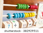 a childs abacus and numberic... | Shutterstock . vector #382929511