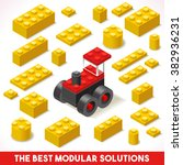 the best modular solutions ads. ... | Shutterstock .eps vector #382936231