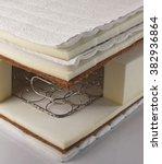 internal view of mattress | Shutterstock . vector #382936864