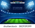 Постер, плакат: Soccer Vector Stadium Score