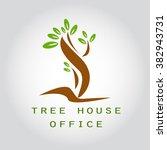 tree house office logo... | Shutterstock .eps vector #382943731