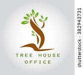 tree house office logo... | Shutterstock .eps vector #382943731