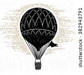 hand drawn textured vintage... | Shutterstock .eps vector #382943791