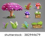 set of fairytale plants. vector ...