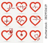 heart icon set | Shutterstock .eps vector #382953619
