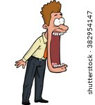 cartoon shocked man with his... | Shutterstock .eps vector #382954147