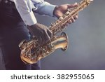 african american jazz musician... | Shutterstock . vector #382955065