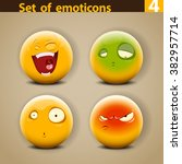 vector set of different cute... | Shutterstock .eps vector #382957714