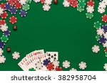 post blog social media poker.... | Shutterstock . vector #382958704
