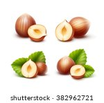 vector set of full and half... | Shutterstock .eps vector #382962721