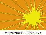 comic book explosion vector... | Shutterstock .eps vector #382971175