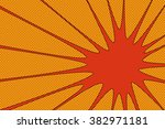 comic book explosion vector... | Shutterstock .eps vector #382971181