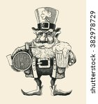 saint patrick's day leprechaun... | Shutterstock .eps vector #382978729