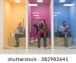group of young business people... | Shutterstock . vector #382982641