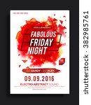fabolous friday night party... | Shutterstock .eps vector #382985761