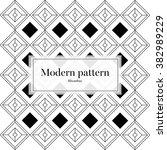 modern pattern rhombus | Shutterstock .eps vector #382989229