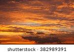 evening sunset view of... | Shutterstock . vector #382989391
