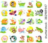 cute animals jpg. cute animals... | Shutterstock . vector #382989547