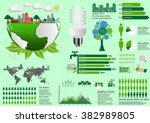 ecology infographic elements... | Shutterstock .eps vector #382989805
