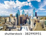 Top View Downtown Skyline Philadelphia - Fine Art prints