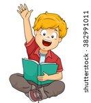 illustration of a boy raising...