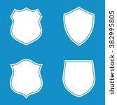 shield icon set . vector... | Shutterstock .eps vector #382995805