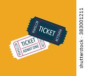 tickets icon. vector... | Shutterstock .eps vector #383001211