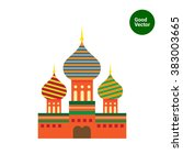 saint basil cathedral icon | Shutterstock .eps vector #383003665