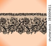 abstract seamless lace pattern... | Shutterstock .eps vector #383004811