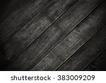 wooden black boards as dark... | Shutterstock . vector #383009209