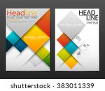 business brochure flyer design... | Shutterstock .eps vector #383011339