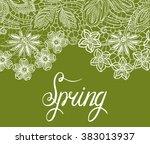 spring vector green pattern | Shutterstock .eps vector #383013937