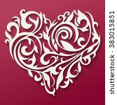 valentine's day card. pattern... | Shutterstock .eps vector #383015851