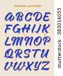 abc calligraphy  alphabet | Shutterstock .eps vector #383016055