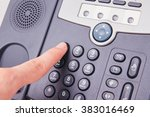finger pressing number button... | Shutterstock . vector #383016469