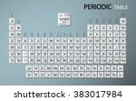 periodic table of the elements | Shutterstock .eps vector #383017984