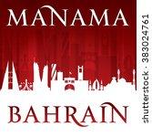 manama bahrain city skyline... | Shutterstock .eps vector #383024761
