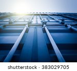 cargo containers at harbor ... | Shutterstock . vector #383029705