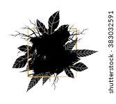 brush strokes with rough edges... | Shutterstock .eps vector #383032591