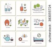set of vector flat icons    ...   Shutterstock .eps vector #383055724