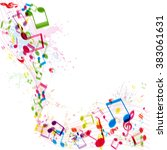 abstract music background ... | Shutterstock .eps vector #383061631