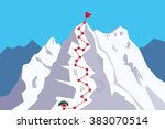 route to the top   climbing ... | Shutterstock .eps vector #383070514