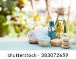 spa and wellness massage...   Shutterstock . vector #383072659
