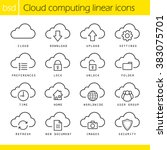 cloud computing linear icons... | Shutterstock .eps vector #383075701